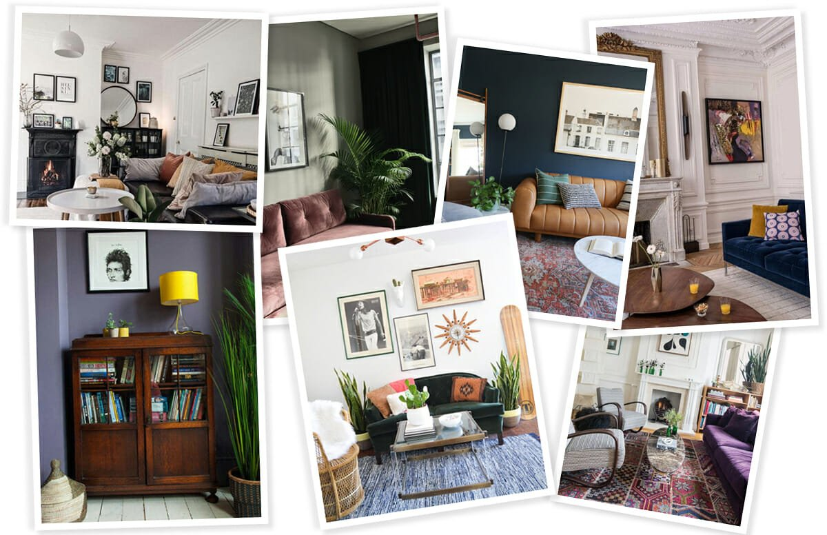 vintage eclectic living room inspiration