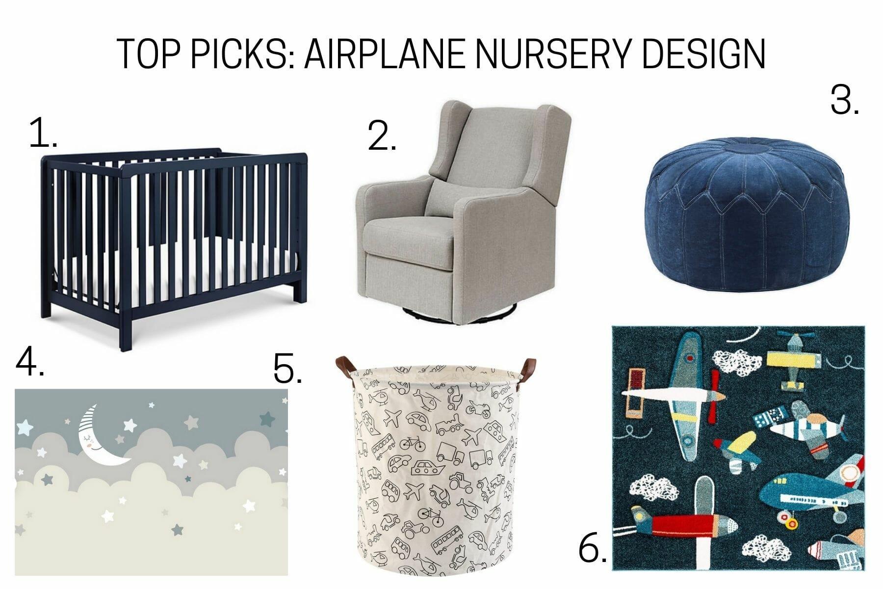 Airplane nursery design top picks