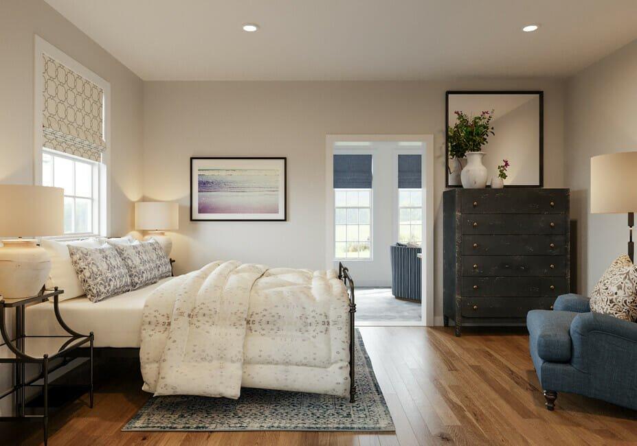 Beach bedroom decor for a sunny guest room
