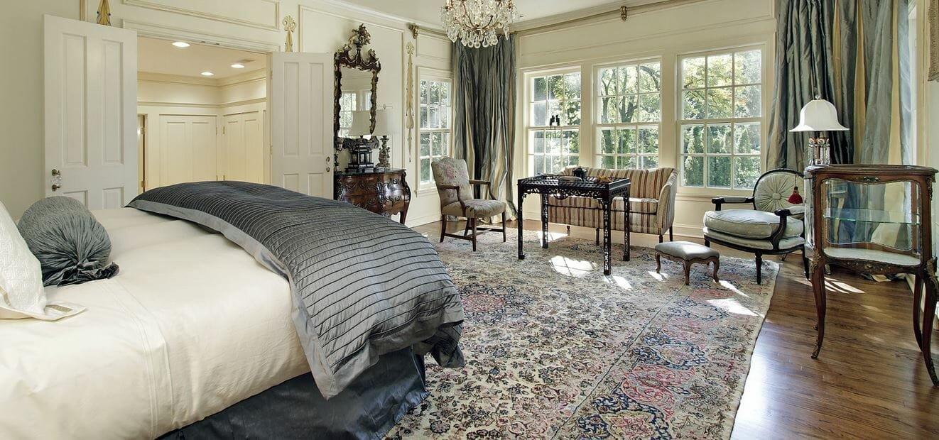 Beautiful bedroom by one of the top interior designers, Sandie Trowbridge