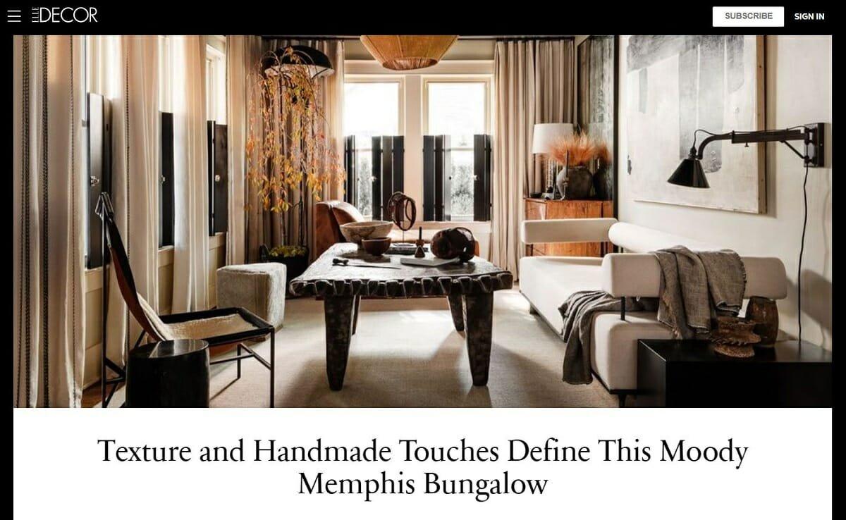 Best interior design sites - Elle Decor