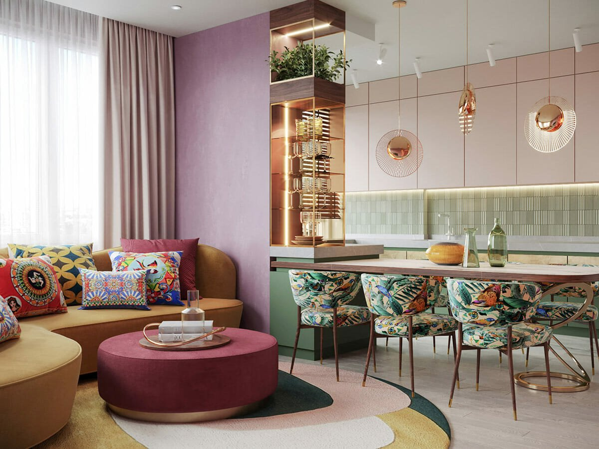 Bold maximalist home on one of the top interior design websites - Home Designing