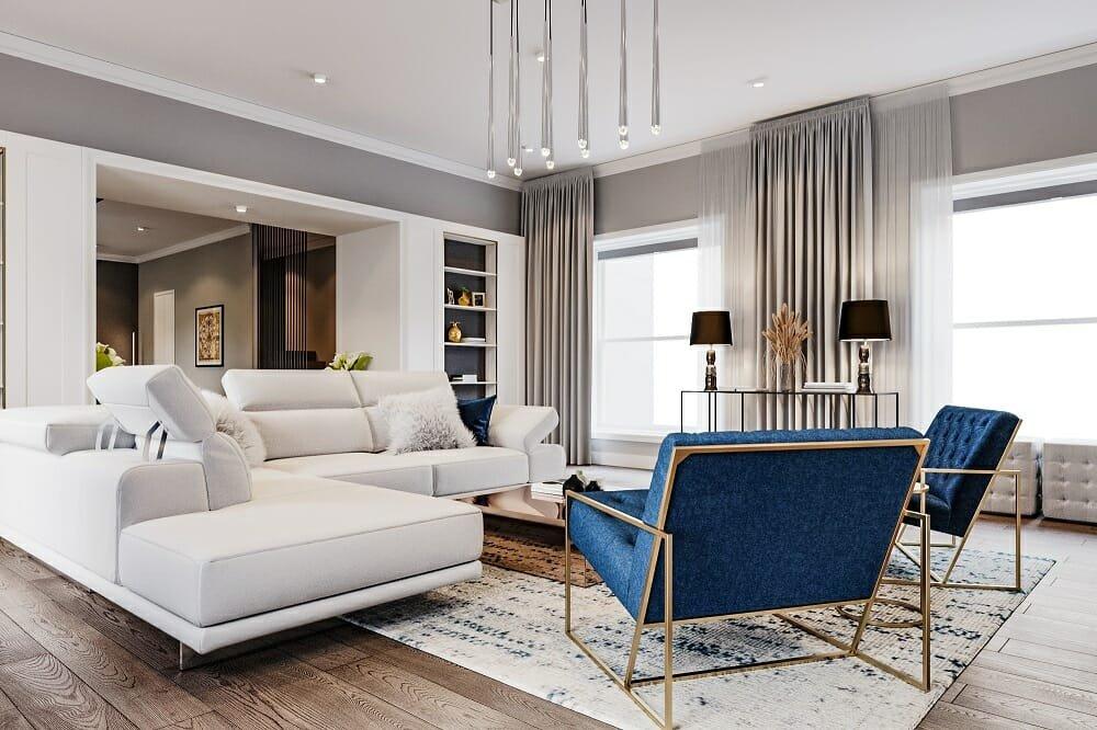 Contemporary design by an online designer on one of the best interior design websites