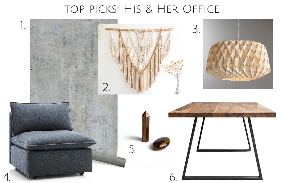 His and hers home office design top picks