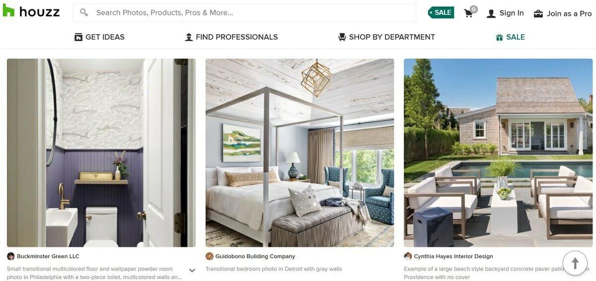 Houzz - best interior design sites