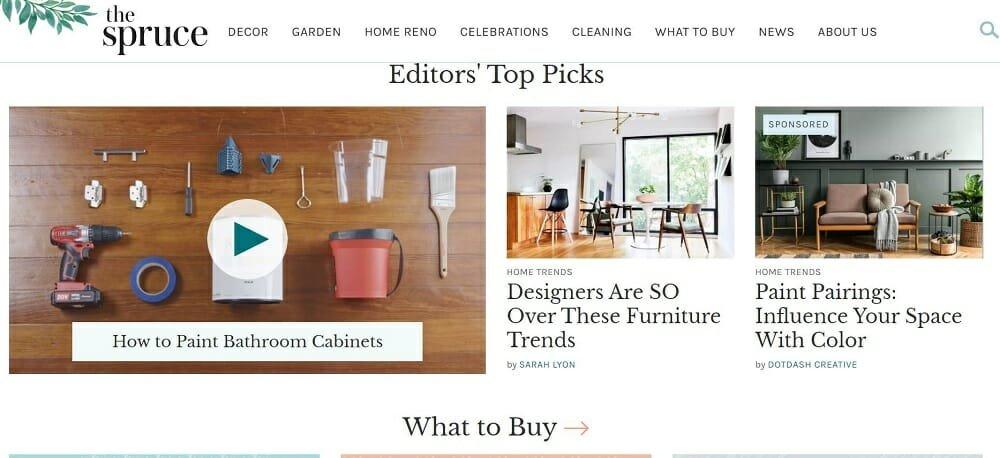 Interior design sites - The Spruce