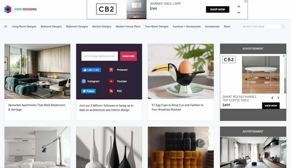 Interior design websites - home designing