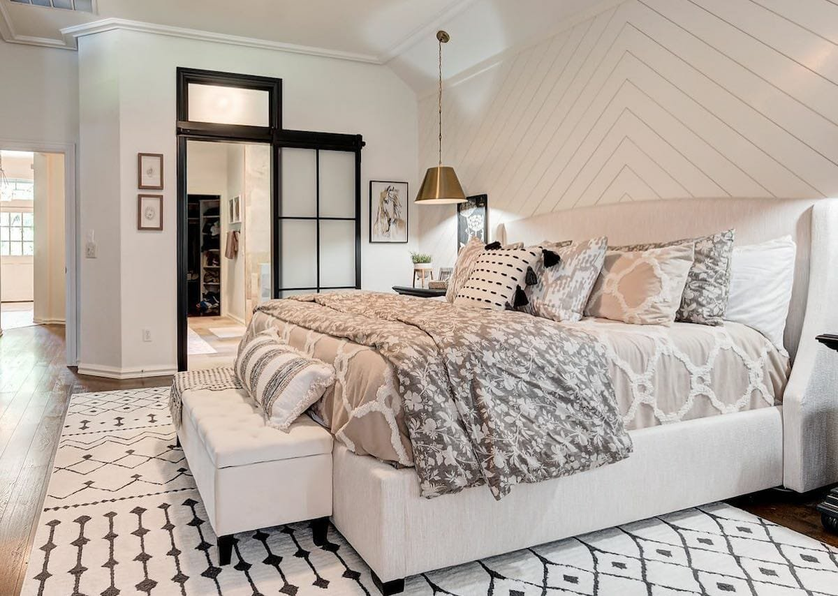 Layering creams of shade by OKC interior decorator ronette wallace