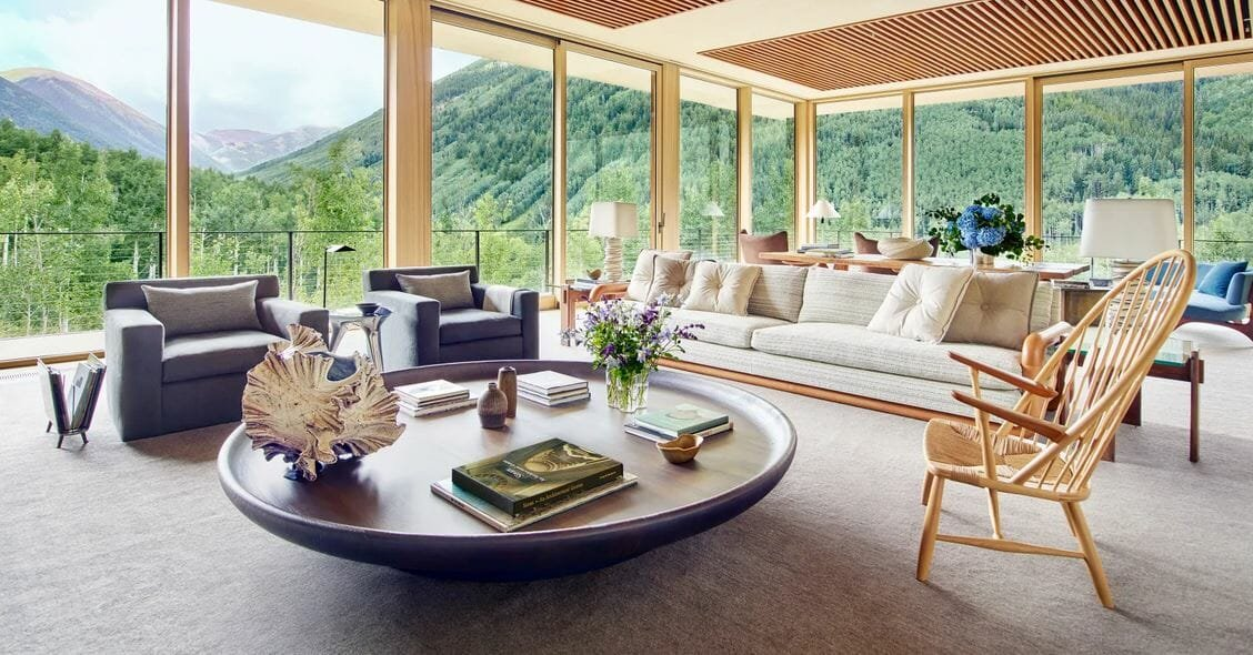 Living room by one of the top Colorado Springs interior designers