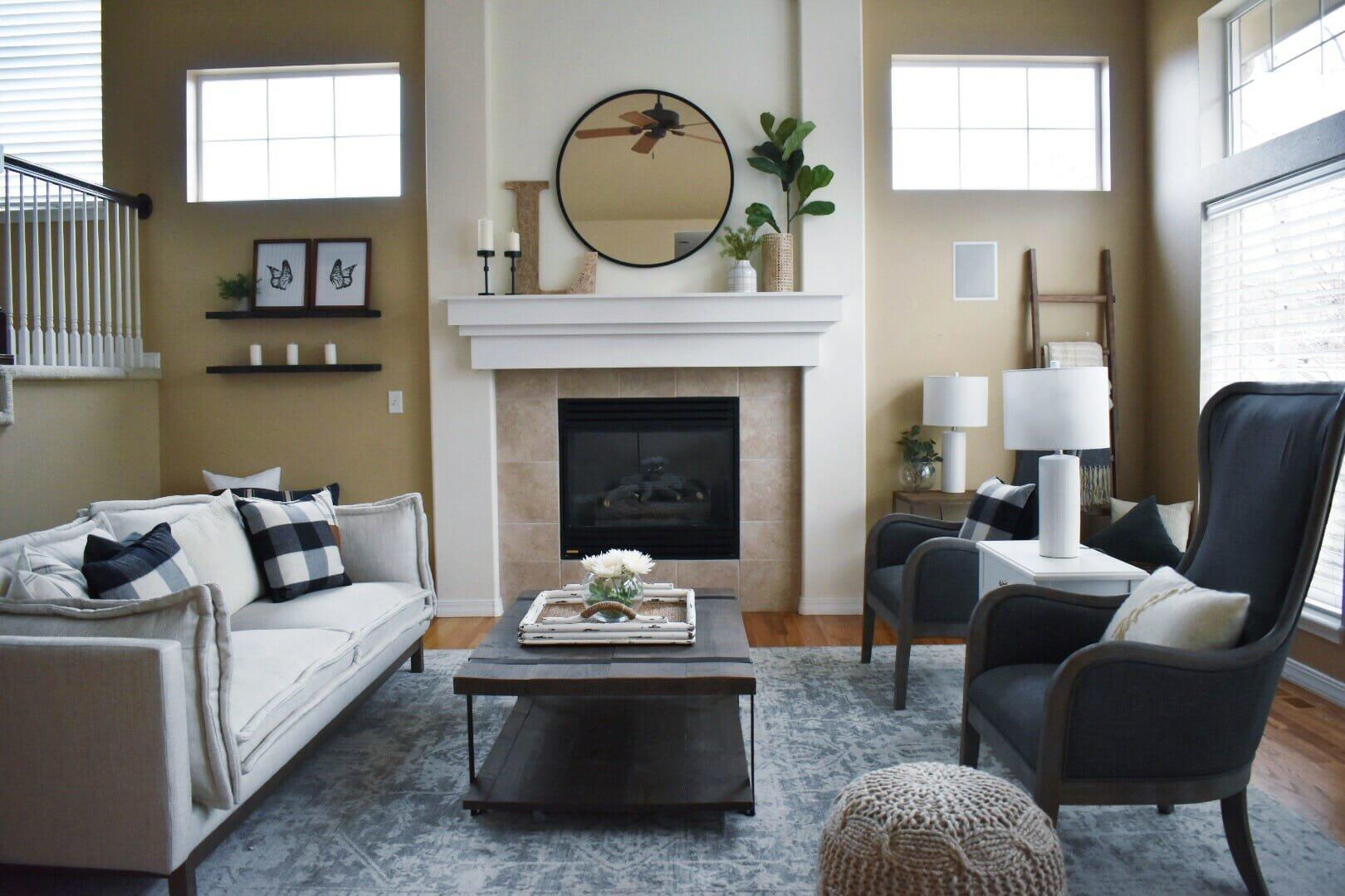 Traditional living room by top interior decorator colorado springs - alyssa H