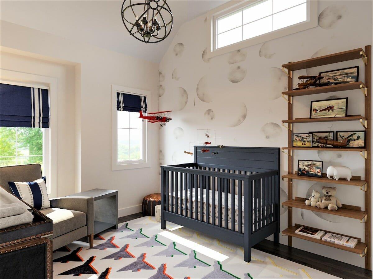 airplane nursery online interior design