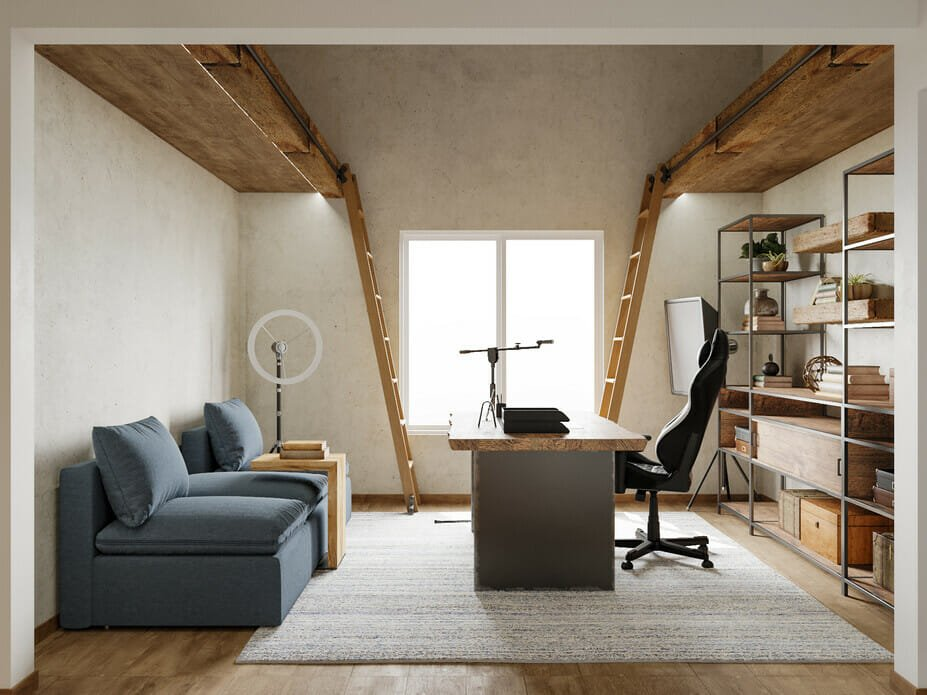 masculine his and hers home office