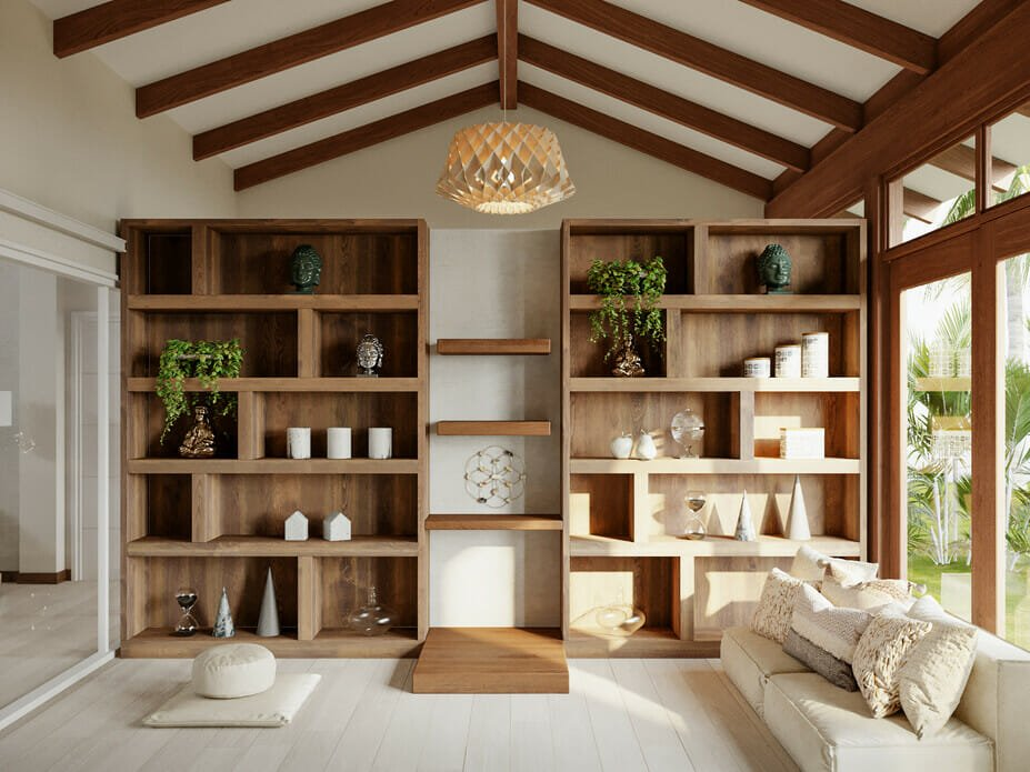 shelving as his and hers home office ideas