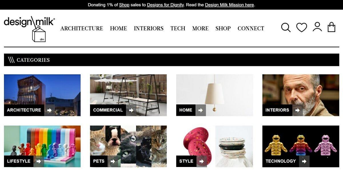 top interior design websites - Design Milk