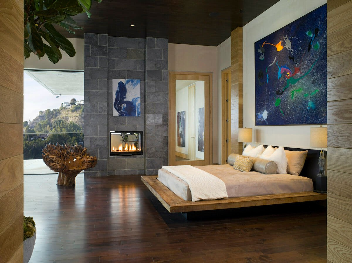 Abstract art as home decor trends 2022