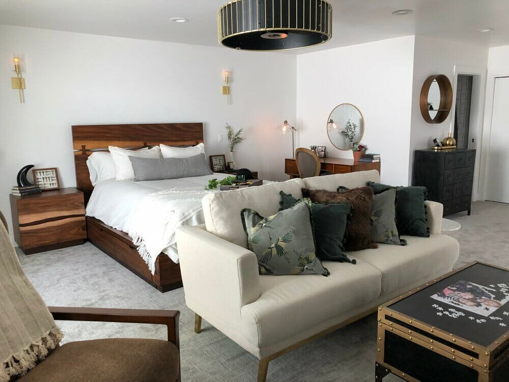 Beautiful bedroom decor by one of the top Las Vegas interior designers, Victoria Tik
