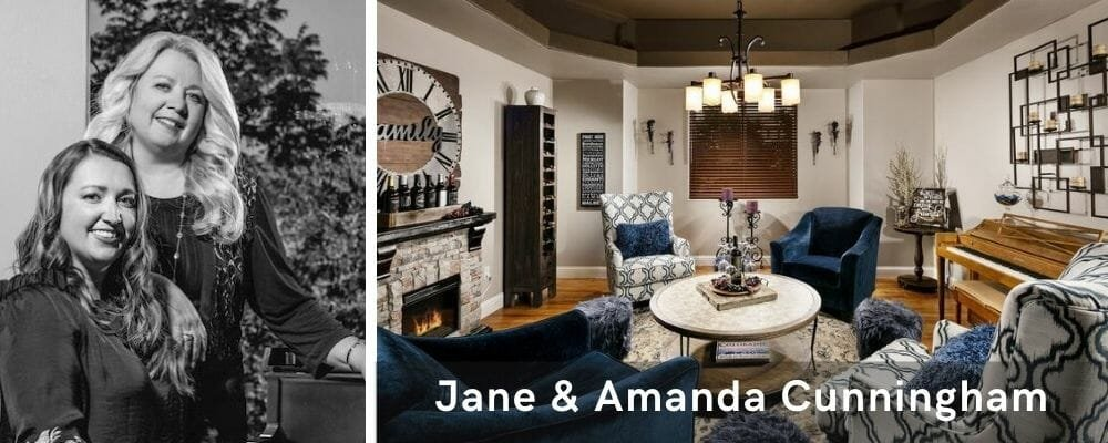Beautiful transitional living room decor by one of the most talented Las Vegas interior designers, Jane and Amanda Cunnigham