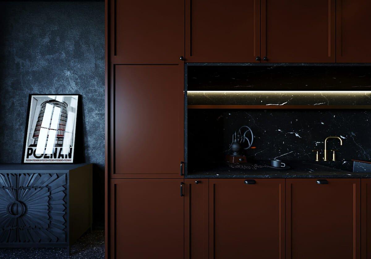Burgundy kitchen cabinet colors 2021