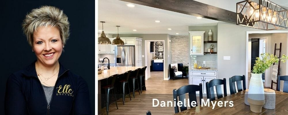 Contemporary living cum dining area by one the top interior decorators in Indianpolis, Danielle Myers