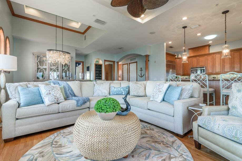 Formal living room decor by one the leading Indianapolis interior designers, Danielle Myers