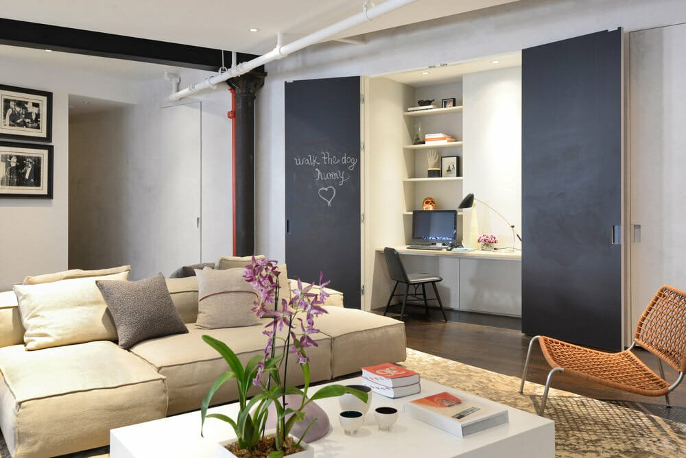 Hidden home office as interior decor trend 2022 - W Architects
