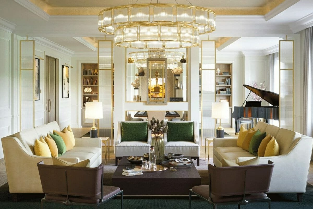 Hollywood glam living room by one of the top Las Vegas interior designers