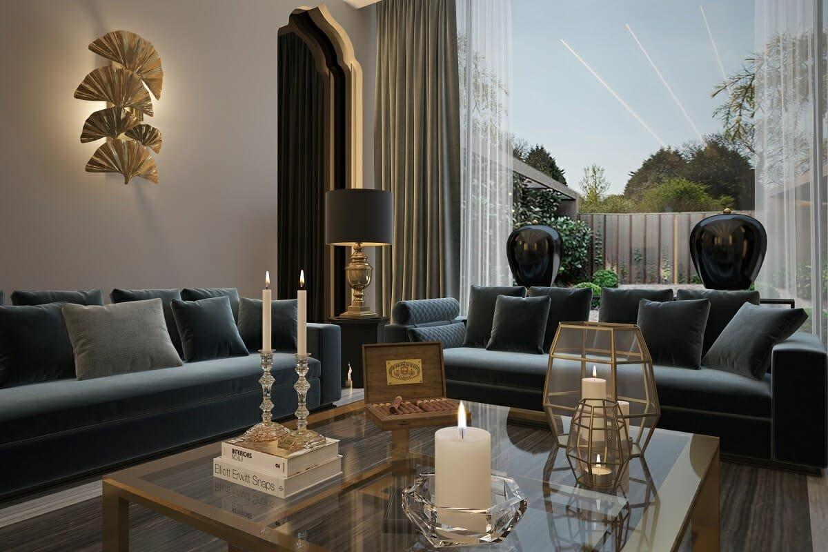 Lounge by online interior designer Nathalie Issa