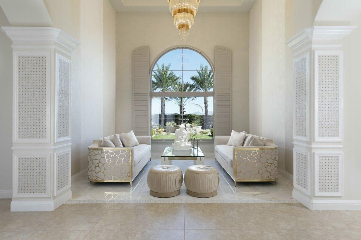 Minimal and modern living room interior design Las Vegas
