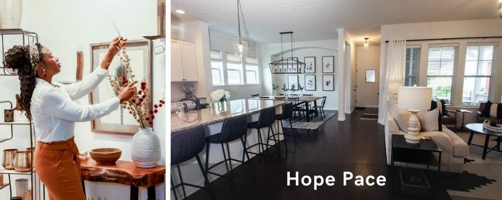 Modern living room by one of the top interior decorators in Indianapolis, Hope Pace