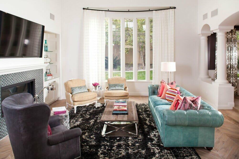 Modern living room by top Houzz interior designer Las Vegas, Peggy Scinta