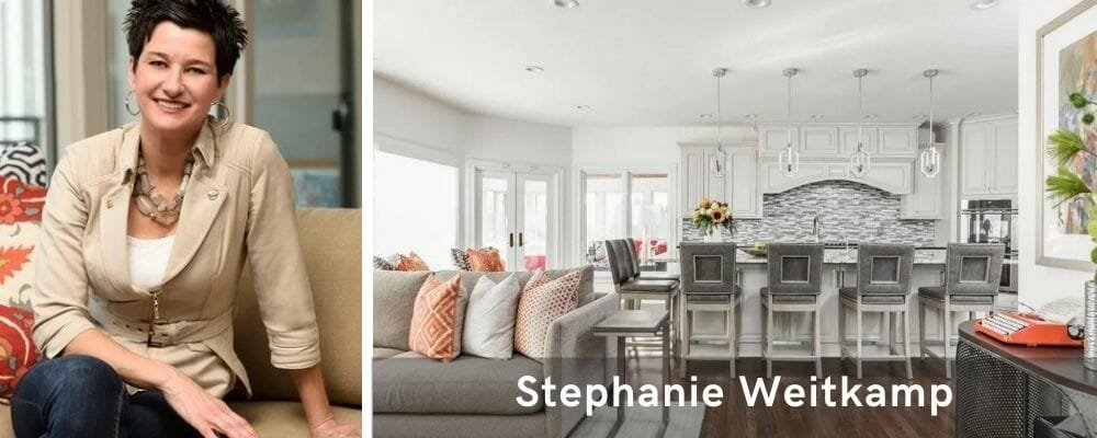 Modern open space decor by top Indianapolis interior design firm, Weitkamp Interior Design