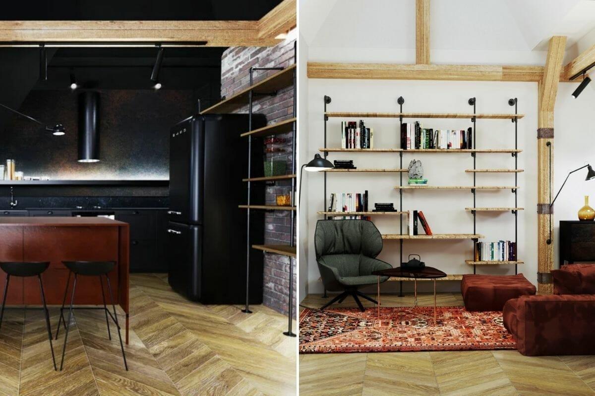Patterned floor trend 2022 by Decorilla interior designer Kristina B