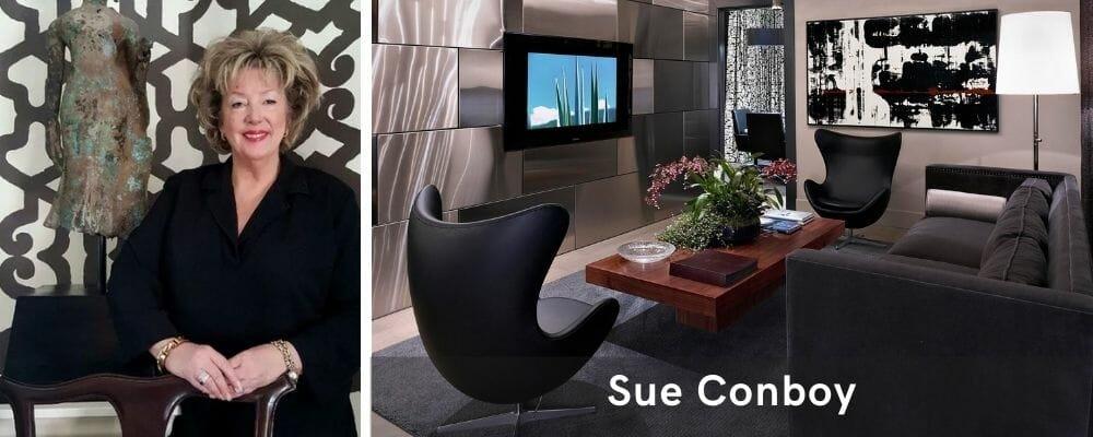 Ravishing all-black decor in living room interior design Las Vegas