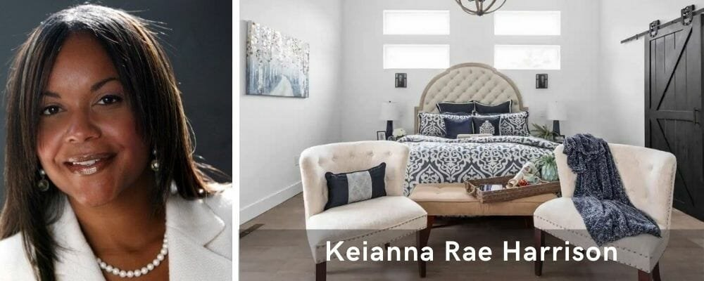 Sophisticated bedroom decor by one of the top Indianapolis interior designers, Keianna Rae Harrison