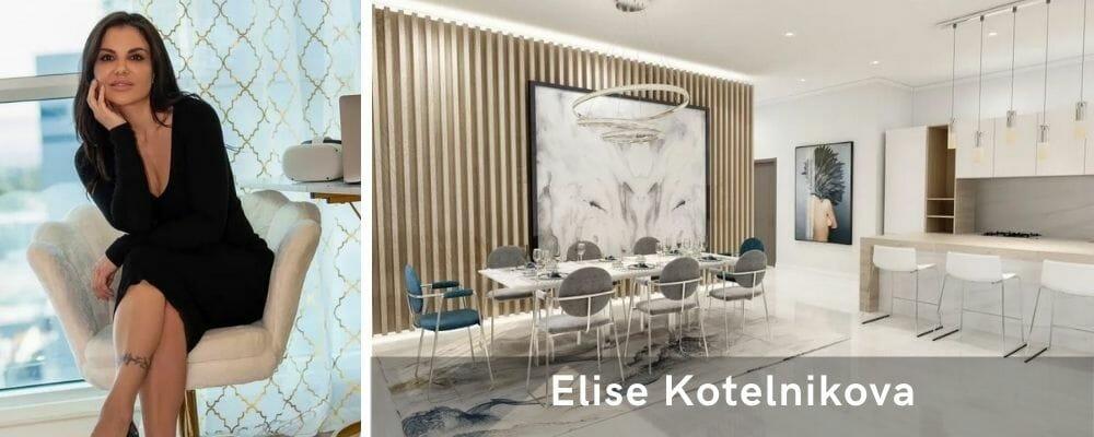 Stunning living room decor by one of the top Las Vegas interior designers, Elise Kotelnikova