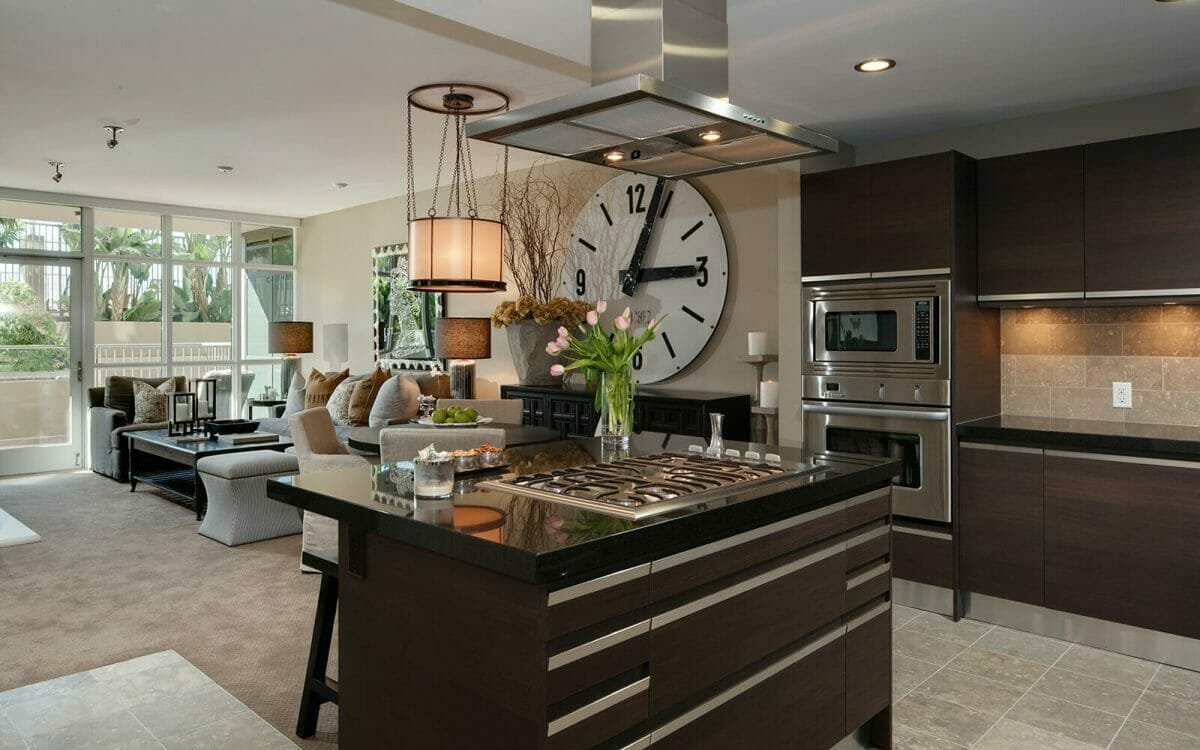 Timeless kitchen and living room design by top interior decorator Las Vegas, Jill Thomson