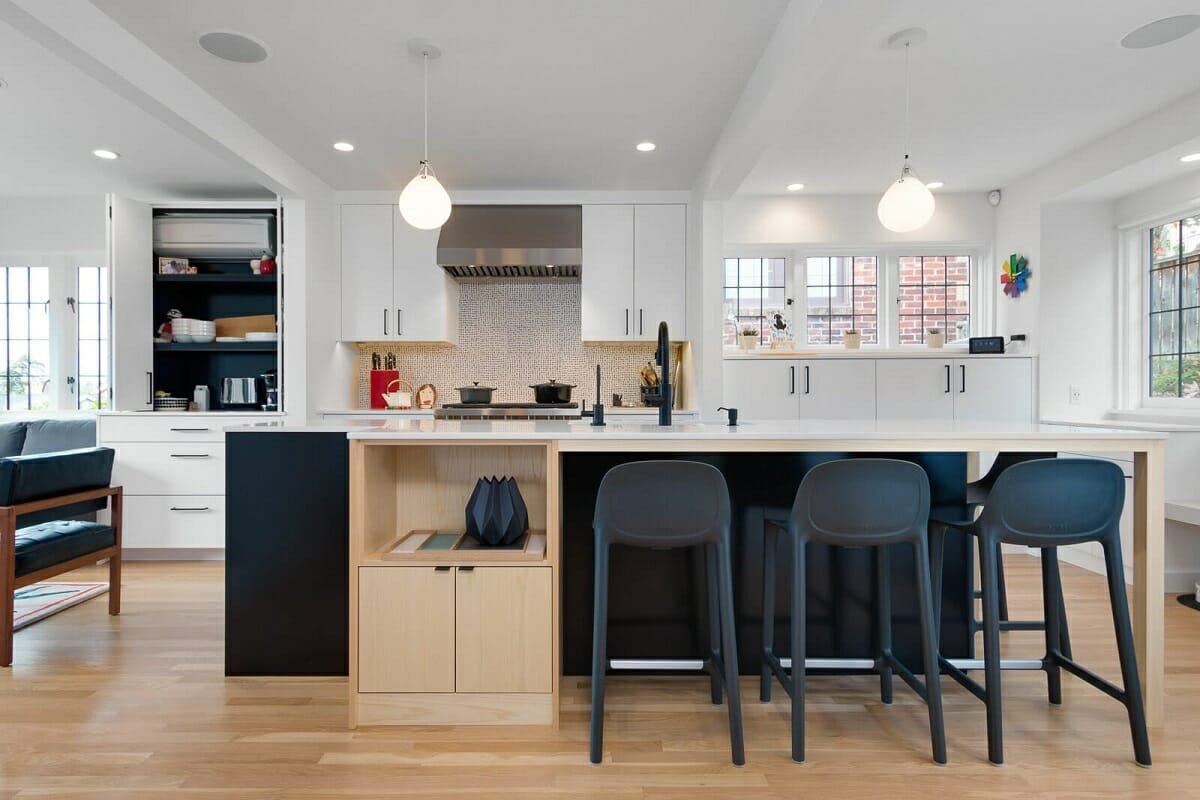 Two tone kitchen cabinets - Betsy M
