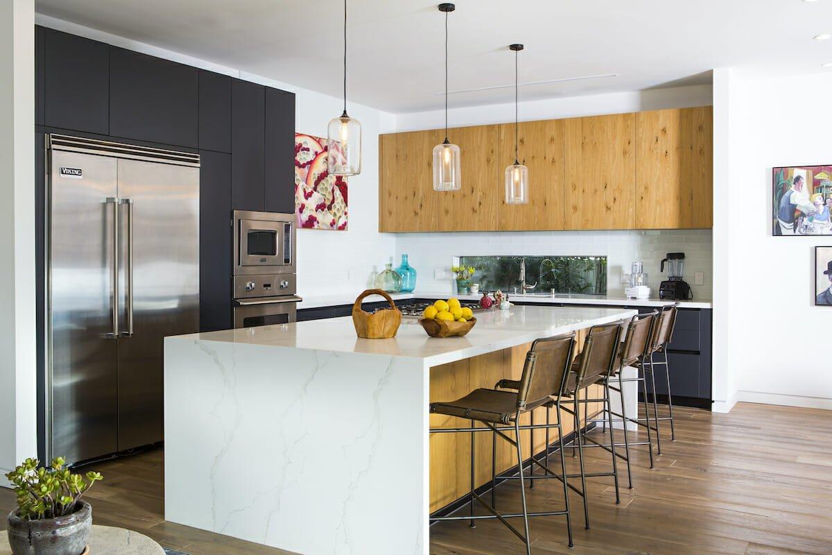 Two tone kitchen cabinets by decorilla designer lori d