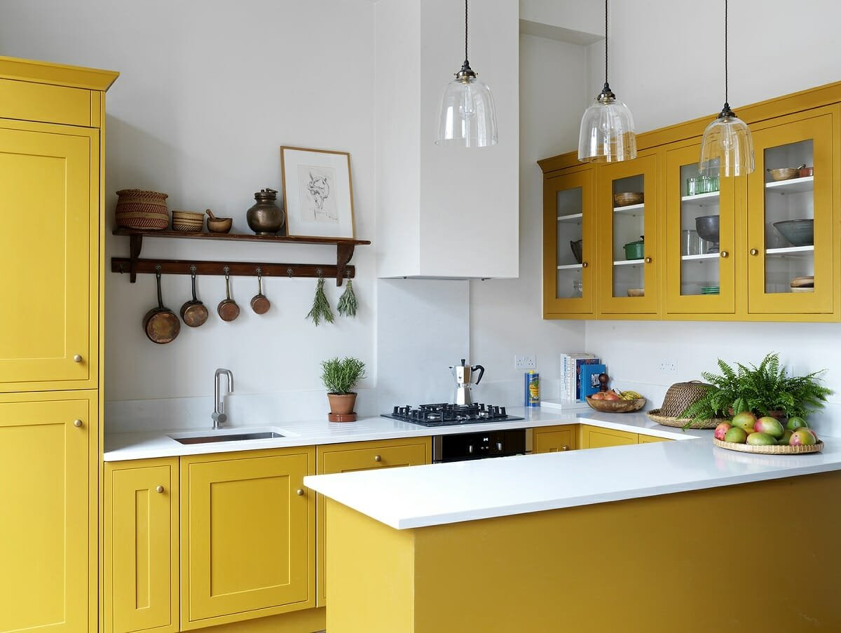 Yellow kitchen cabinet colors - Lonika Chande