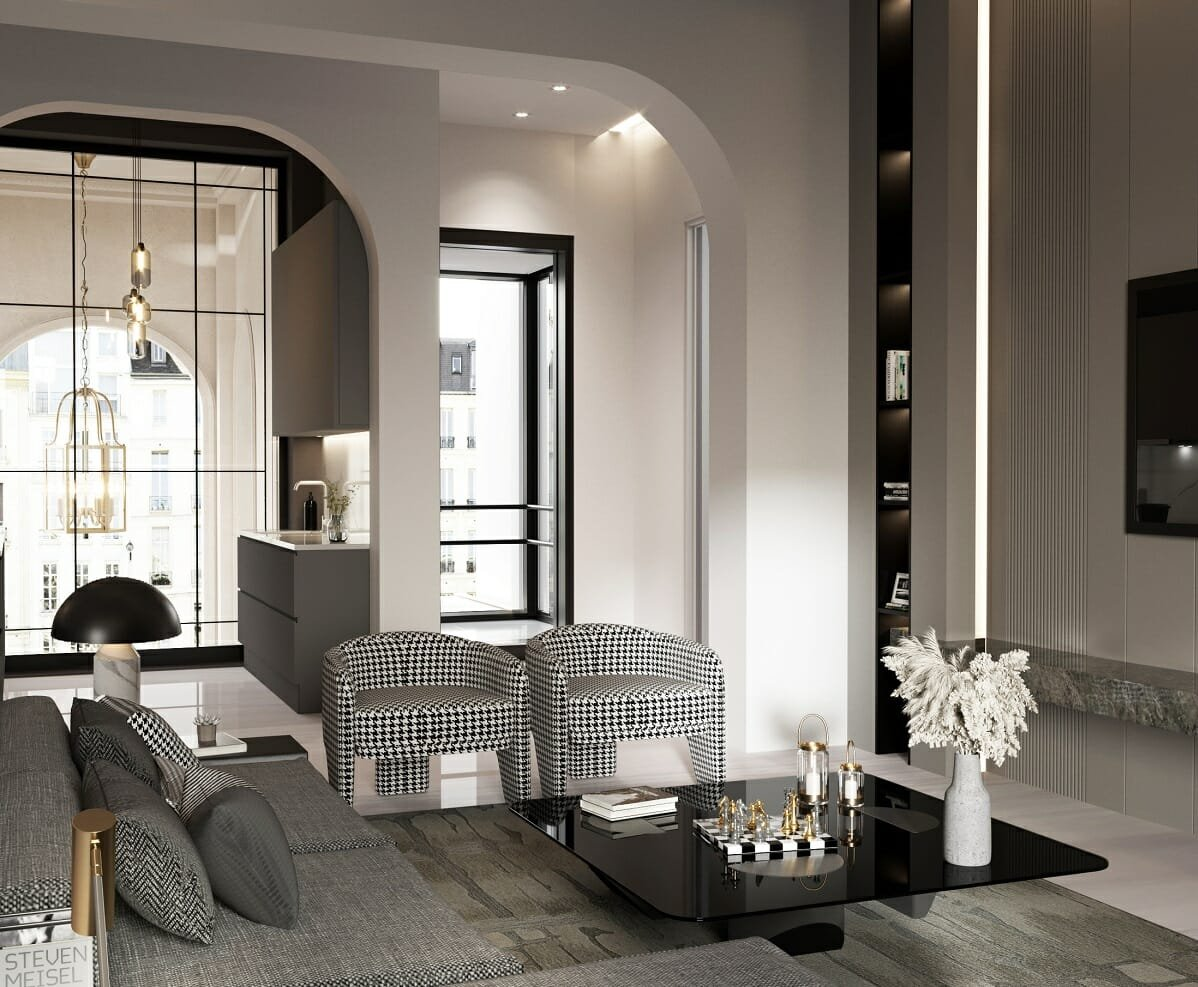 contemporary apartment by online interior decorator Nathalie Issa