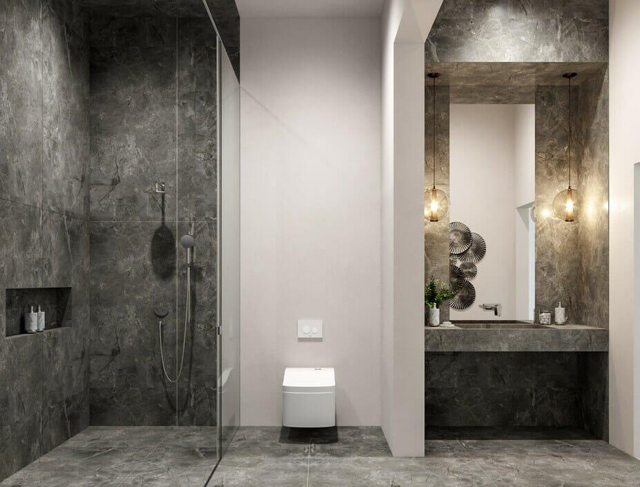 contemporary luxury bathroom design