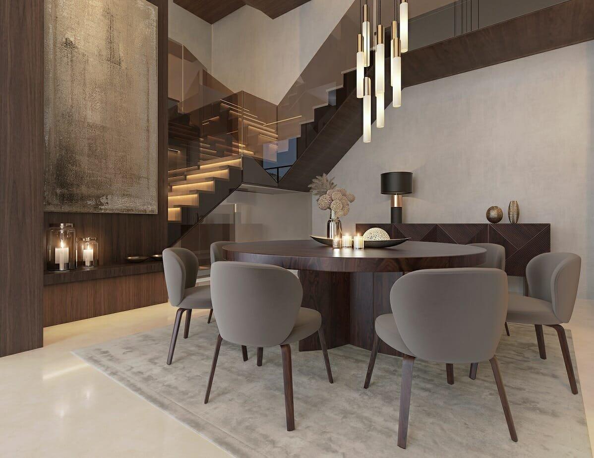 dining room by online interior decorator Nathalie Issa