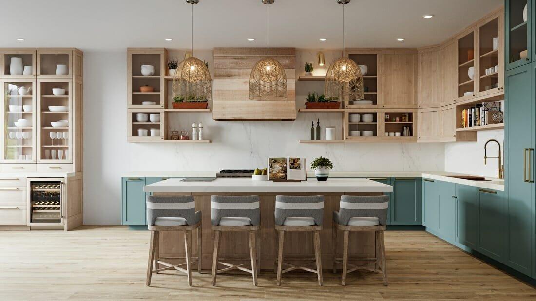 interior design color trends for a kitchen 2022