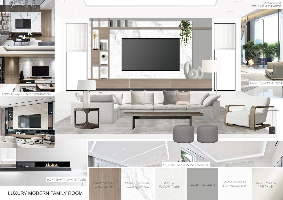 luxury great room mood board
