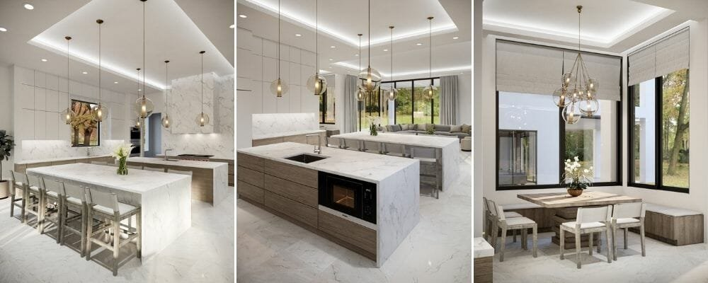 luxury home interior for a open plan kitchen