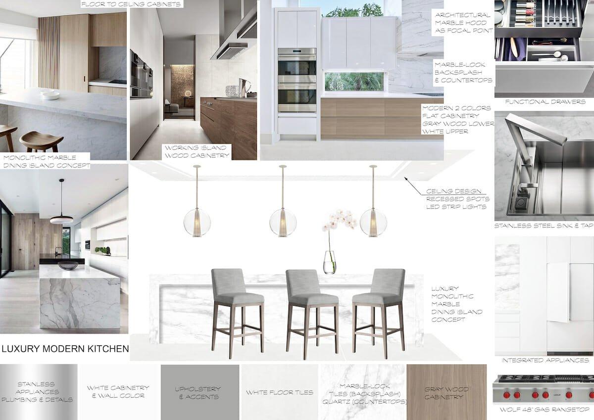 luxury home interior - kitchen mood board