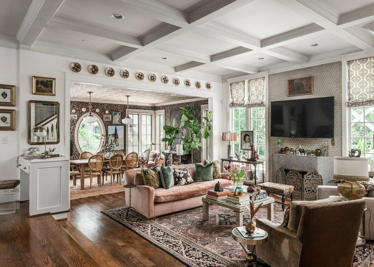 vintage eclectic home by top nashville interior designers