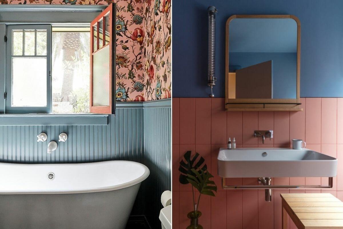 2022 bathroom color trends - Domino & Design Milk