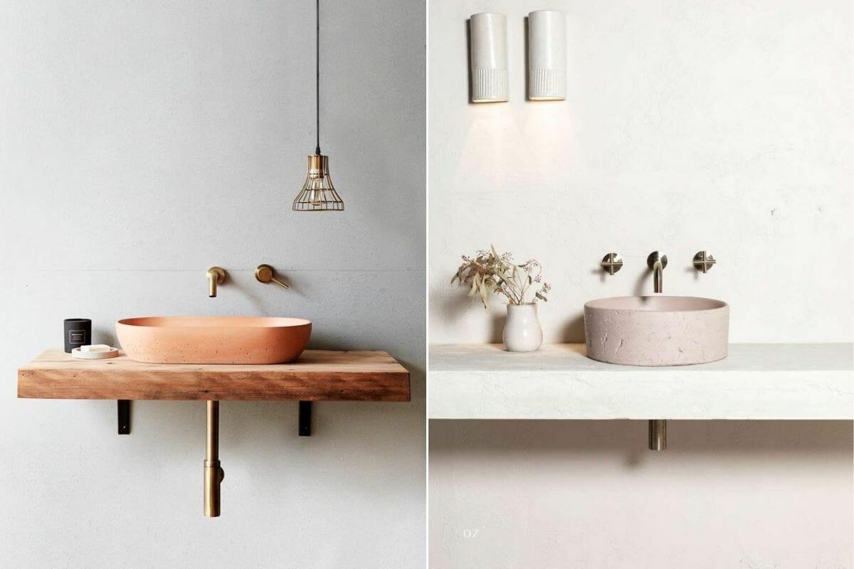 2022 bathroom trends - small basins