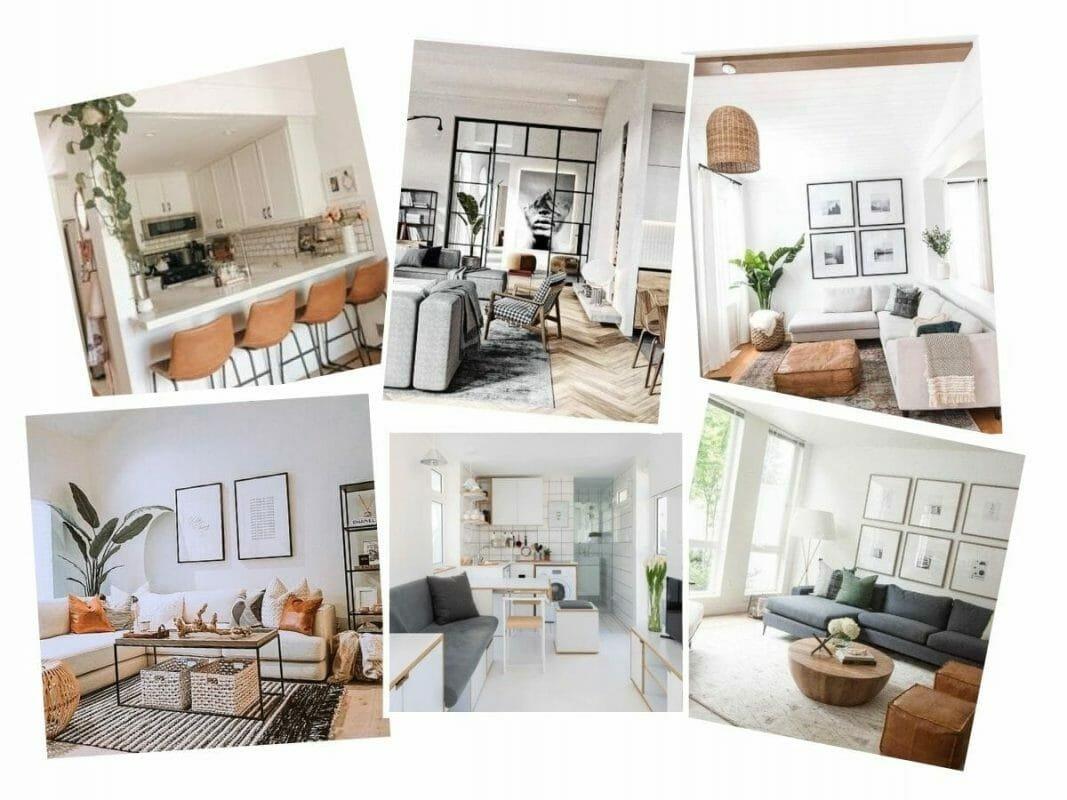 Basement studio apartment inspiration board